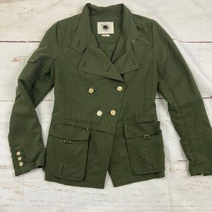 Anthro Daughters of the liberation Green Pea Coat